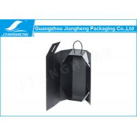 China High End Black Paper Personalized Wine Box Folding Recyclable With Rope Handle wholesale
