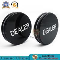 China Casino Baccarat Markers 76mm Custom Black White Silk Screen Engraving Texas Holdem Button on sale