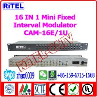 16-in-1 Fixed Interval Modulator CAM-16E for hotel/community/campus/coference