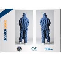China CE Approved Disposable Protective Coveralls Nonwoven Suits White / Yellow / Blue Color wholesale