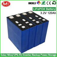 China Electric forklift rechargeable lithium ion battery 3.2V 120Ah LiFePO4 battery cell wholesale