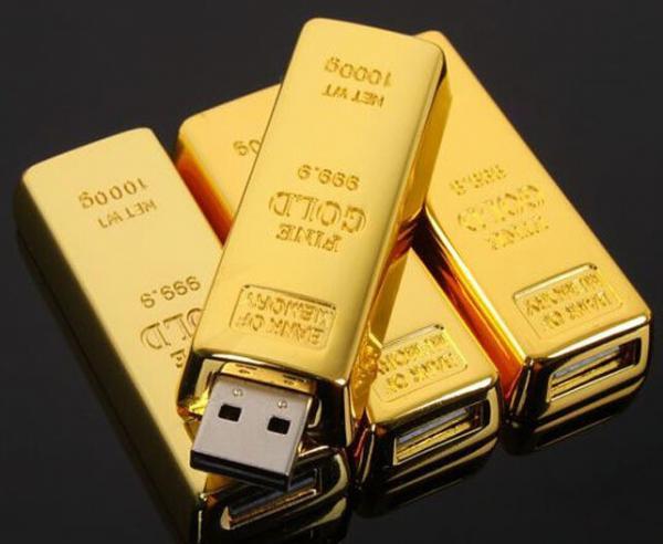 Quality Fashion bullion gold bar USB Flash Drive Pen Drive Flash Memory Stick Drives  pendrive for sale