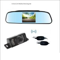 China Wireless 4.3 Inch LCD Rear View Mirror With Reverse Bakcup Camera Universal Car Monitor Parking assistance wholesale