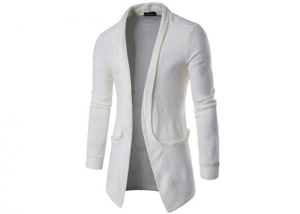 Quality Mens Long Cotton And Acrylic 12GG Cable Cozy Knitted Cardigan Sweaters Autumn for sale