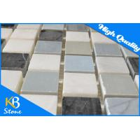 China Wall Floor Rug Decorative Marble Mosaic Tiles / Art Deco Tile 1 x 1 Inch for Interior and Exterior Wall wholesale