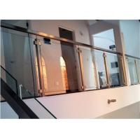 China Easy Installation Apartment Balcony Railing Stainless Steel Building Railing Post Glass on sale