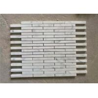 China 15x98MM Carrara White Natural Stone Mosaic Tile Long Strips 10 MM Thickness wholesale