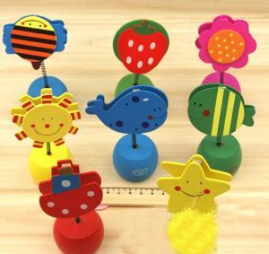 China Wooden Cartoon Desktop Nota Memo Clip Pencil Sharpener wholesale