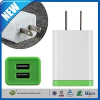China Double Port Universal USB Power Adapter , iPhone 6 / 6 Plus / 5s SamsungTravel Wall Charger wholesale