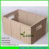 China LDKZ-051 natural paper rope woven storage bin 2016 new home storage basket wholesale