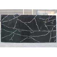 Kitchen Quartz Countertop Slabs Black Granite Slabs Quartz Stone Thickness 2cm / 3cm