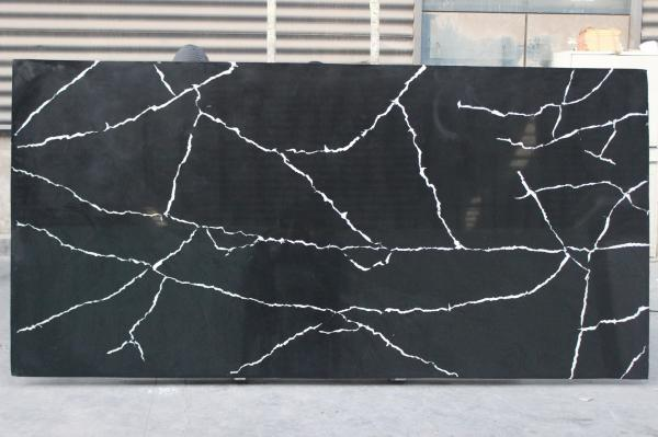 Quality Kitchen Quartz Countertop Slabs Black Granite Slabs Quartz Stone Thickness 2cm / 3cm for sale