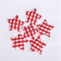 China Hair Accessories Ultrasonic Embossing Flowers Crafts Gingham Star 4.8cm wholesale