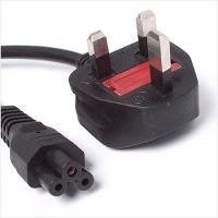 Quality Power Cord UK Plug to C5 Clover Leaf CloverLeaf Lead Mickey Mouse1.8m Cable for sale