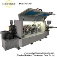 Straight full automatic PVC edge banding machine for door cabinets KC370D