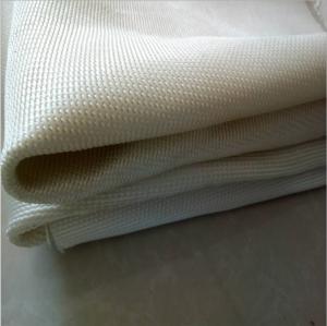 China White Heat Insulation Fiberglass Cloth , High Silica Cloth Easy To Process wholesale