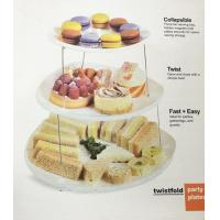 China Fruit Three Tier Serving Tray Twistfold Cake Party Plates ECO Friendly wholesale