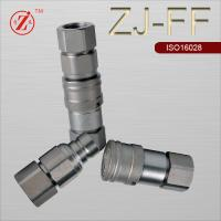 China Flat face Hydraulic quick coupling hammer circuits on excavators on sale