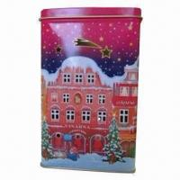 China Candle can for Christmas, made of 0.21mm tinplate wholesale