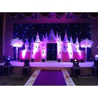 China RGB full color backdrops  christmas decoration event gold plated hanging items led star curtain wholesale