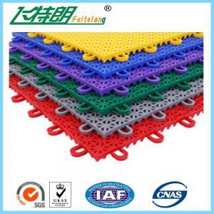 China PP Anti Aging Interlocking Rubber Floor Tiles Play Mat Flooring 2500N wholesale