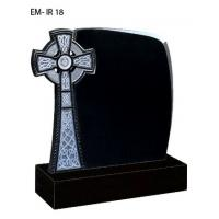 China Iceland style tombstone, black granite tombstone wholesale