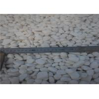 China High Polished Snow White Natural Building Stone River Pebble Stone wholesale