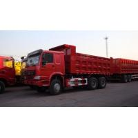 China 30T SINO Heavy Duty ZZ3317N3867B 6x4 Red Color Full Fender Dump Truck for Transport wholesale