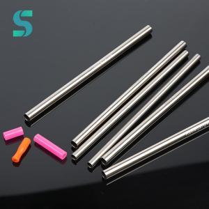 China 100% CP Titanium Drinking Straws Lightweight Customized Logo 200mm Length on sale