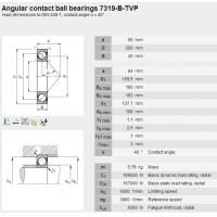 7319-B-TVP Angular contact ball bearings