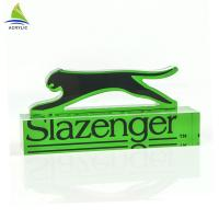 China Eco - Friendly Acrylic Sign Display Holder Clear Solid Engraved Acrylic Logo Block wholesale
