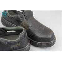 China Industrial ESD Safety Shoes with Steel Toe Mens , Black Color wholesale