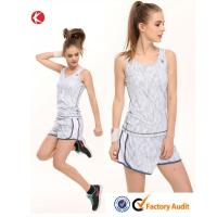 China White Girls Tennis Clothing Denim Jumpsuit Tennis Wear Tops and Shorts on sale