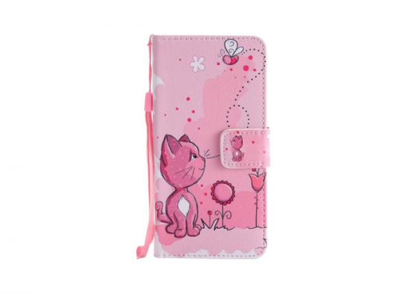 Quality Samsung Galaxy 8 Custom Made Phone Cases Lovely Kitty Waterproof Pink Color for sale