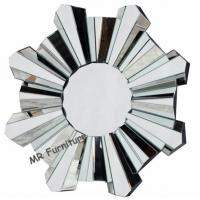 China Romantic Wall Mirrors For Bedroom, 80cm Diameter Decorative Wall Mirrors on sale