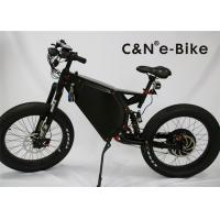 China Men's Motorized Electric Fat Tire Mountain Bike With Suspension Black White Color wholesale
