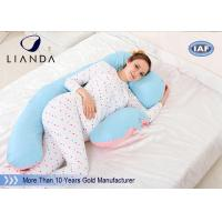 China U Shape Maternity Body Pillow , Memory Foam Pregnancy Pillow Polyester / Cotton Fabric on sale