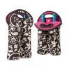 China Portable 2 Pack Red Wine Bottle Cooler Sleeve , Neoprene Bulk Wine Bottle Cooler Bag wholesale