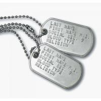 China Anodized Dog Tags for People wholesale