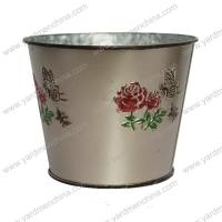 China Painting finish metal flower container for home&garden wholesale