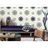 China Papel de parede azul e branco clássico da decoração da sala da porcelana/papel de parede estilo chinês wholesale