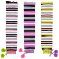 China Individual Comfortable Colorful Striped Knitted Leg Warmers Free Pattern For Gilrs on sale