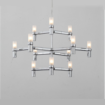 Quality Gold Crown Modern Hanging Pendant Lights Living Room Chandeliers Suspension for sale
