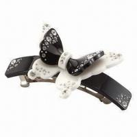 China Hair Clip, Fashionable Butterfly Design, Available in Various Colors wholesale