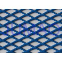 China Perforated Architectural Expanded Metal , Blue / Red Steel Expanded Metal Mesh wholesale