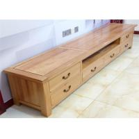China Beech Media Tv Unit Furniture , Family Long Natural Wood Tv Stand Eco -  Friendly wholesale