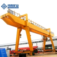 China 25Tons Span 32m Double Girder Beam Gantry Crane Outdoor Using on sale