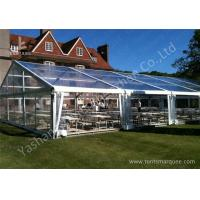 China 15M By 25m Clear Fabric Top Outdoor Party Tents With Aluminum Main Profile wholesale