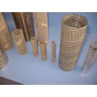 China 304 , 316 Round Perforated Metal Pipe , Pouch Stainless Steel Pipes 2mm Thick wholesale