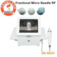 China Micro needle acne scar remover Wrinkles/freckle/pigment/ removal portable fractional rf microneedle machine on sale